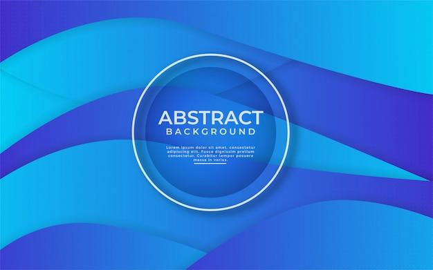 Abstrait bleu dégradé dynamique avec composition de forme