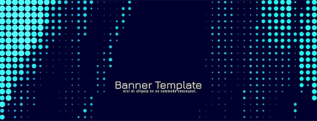 Abstrait bleu demi-teinte bannière design vecteur fond