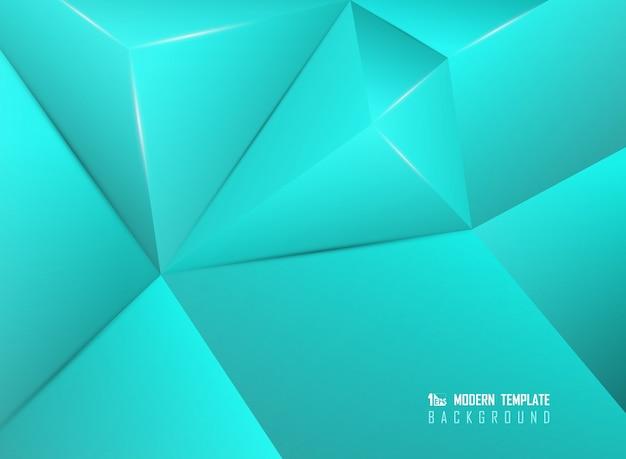 Abstrait bleu design polygonale oeuvre fond décoratif.
