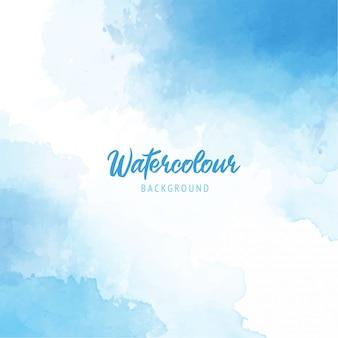 Abstrait bleu doux splash peinture fond texture aquarelle
