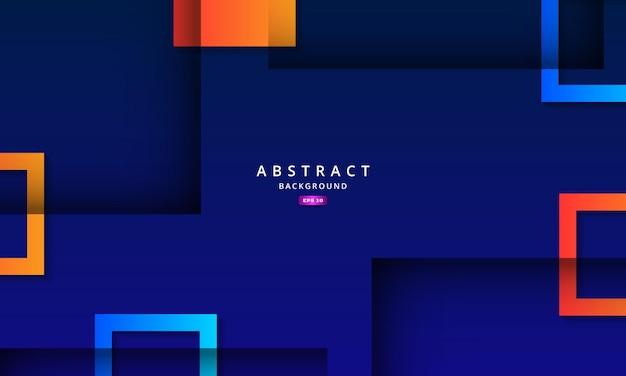 Abstrait bleu avec effet d'ombre profonde