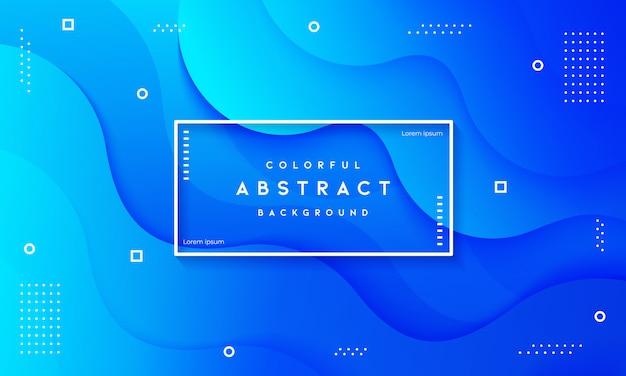 Abstrait bleu fluide dynamique