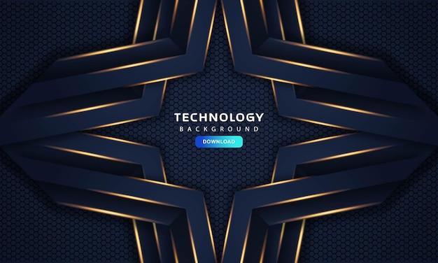 Abstrait bleu foncé cadre luxe design concept innovation fond