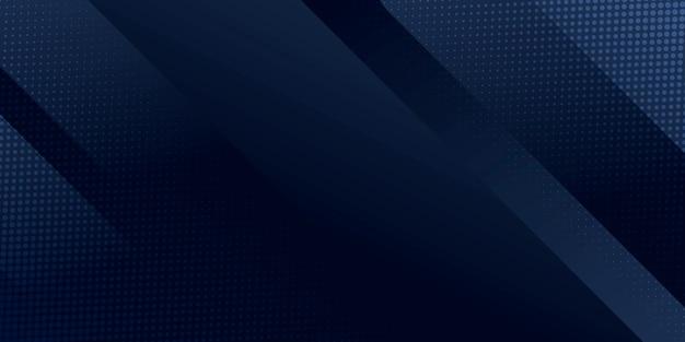 Abstrait bleu foncé avec décoration moderne de rayures de ligne argentée pour la conception de présentation