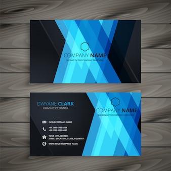 Abstrait bleu foncé design carte de visite