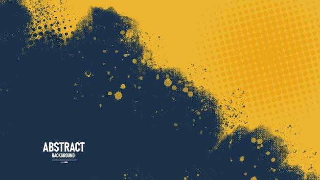 Abstrait bleu foncé et jaune grunge texture