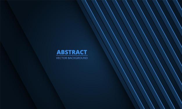 Abstrait bleu foncé avec des lignes diagonales sur un espace vide.