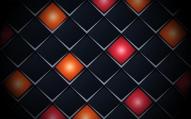 Abstrait bleu foncé réaliste avec motif carré