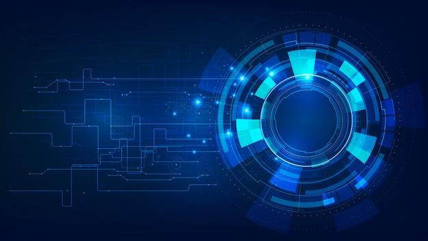 Abstrait bleu foncé de la technologie futuriste