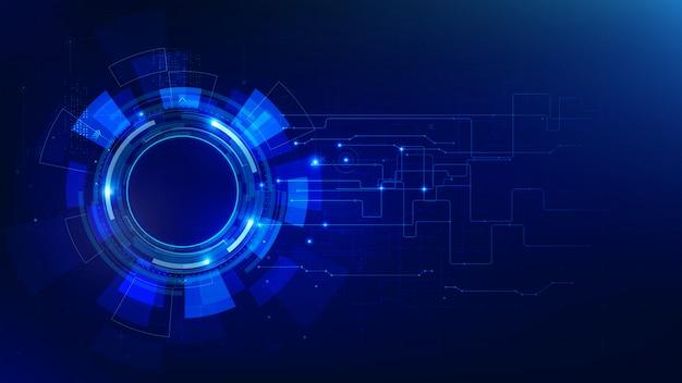 Abstrait bleu foncé technologie futuriste