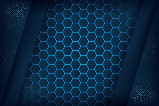 Abstrait en bleu foncé.