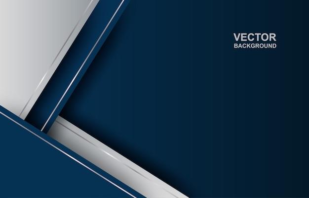 Abstrait. bleu - fond de forme de chevauchement géométrique dégradé argenté.