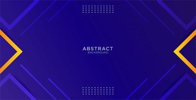 Abstrait bleu avec une forme géométrique et jaune minimale