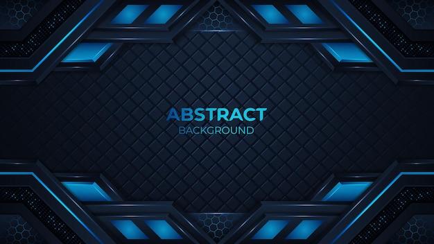 Abstrait bleu avec des formes géométriques