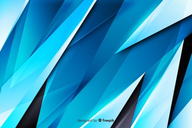 Abstrait bleu formes