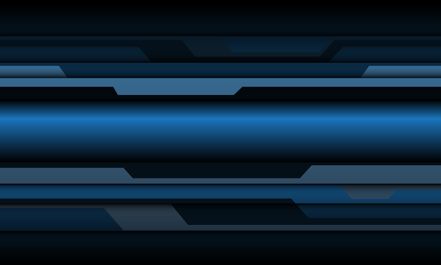 Abstrait bleu gris métallique cyber polygone design fond de technologie futuriste.