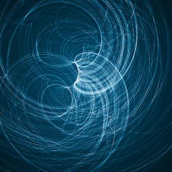 Abstrait bleu, illustration ondulée futuriste, illustration abstraite colorée