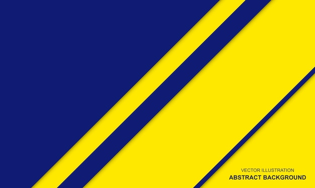 Abstrait bleu et jaune avec un design moderne à rayures