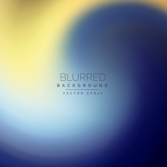Abstrait bleu et jaune fond flou
