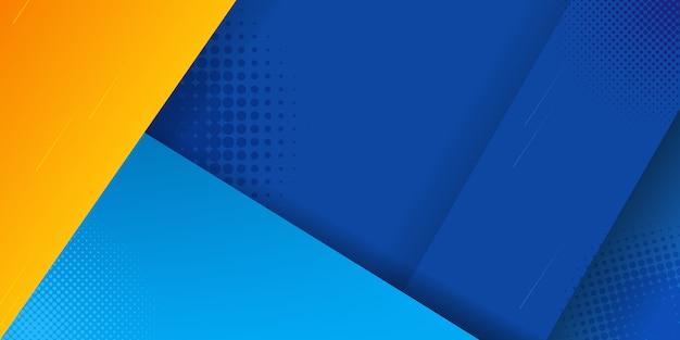 Abstrait bleu et jaune