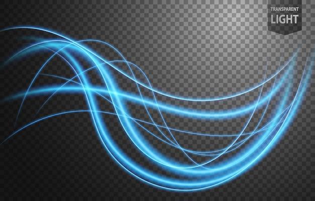 Abstrait bleu ligne ondulée de lumière