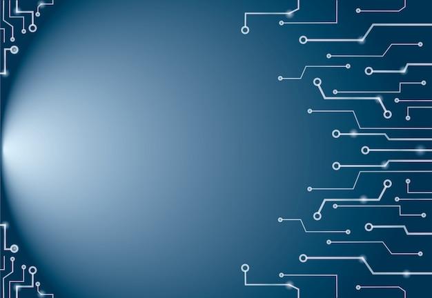 Abstrait bleu lignes de technologie