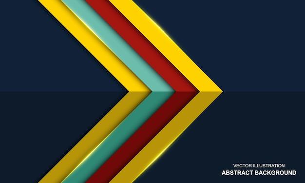Abstrait bleu luxe coloré moderne