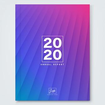 Abstrait bleu magenta dégradé pour la couverture du rapport annuel entreprise