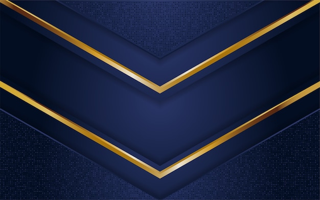Abstrait bleu marine foncé avec des lignes dorées