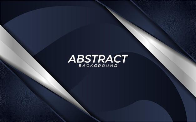 Abstrait bleu marine foncé avec texture de couche de chevauchement et lignes métalliques