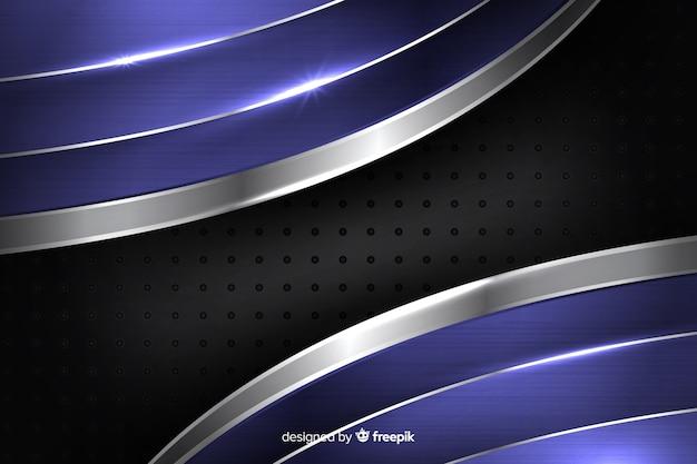 Abstrait bleu métallique brillant