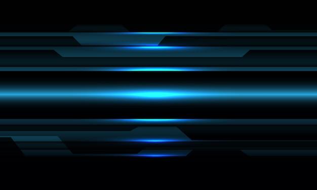 Abstrait bleu métallique cyber sur fond de technologie futuriste design noir.