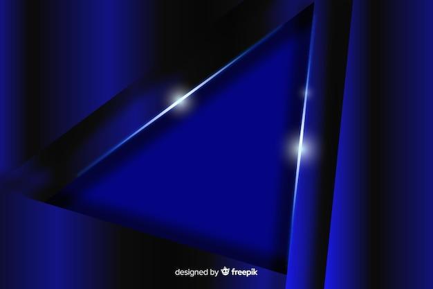 Abstrait bleu métallique avec réflexion
