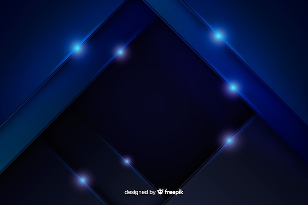 Abstrait bleu métallique
