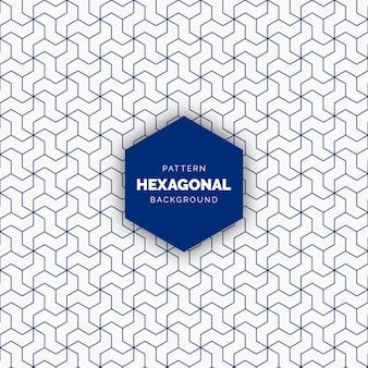 Abstrait bleu motif géométrique sans soudure hexagonal