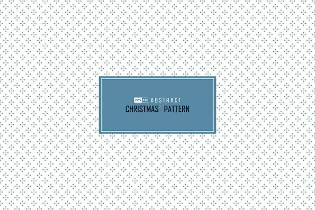 Abstrait bleu noël chute neige cercle motif sans couture décoration minimale.
