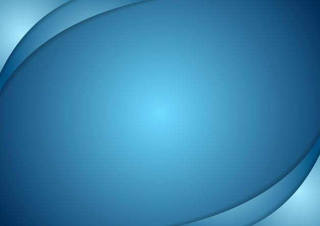 Abstrait bleu ondulé.