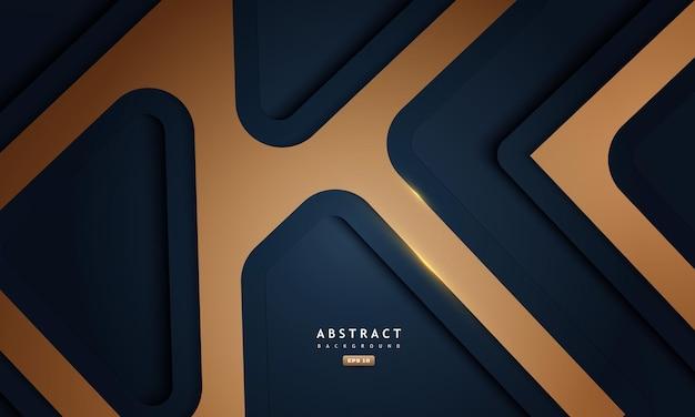 Abstrait bleu et or avec ombre profonde et texture