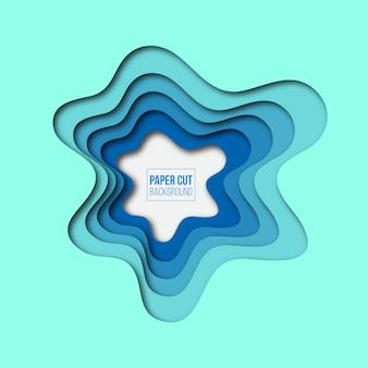Abstrait bleu papier coupé de fond