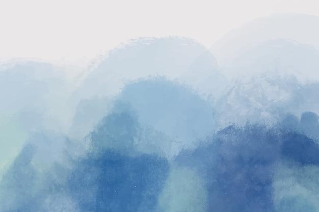 Abstrait bleu peint à la main