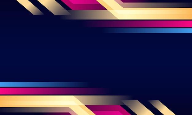 Abstrait bleu rayures roses et jaunes vector illustration