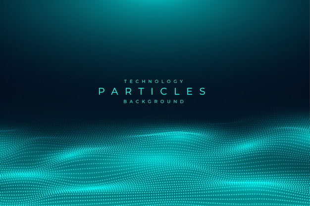 Abstrait bleu technologie particules