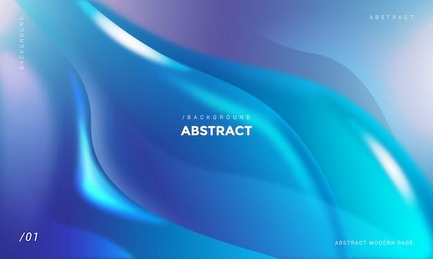 Abstrait bleu vagues 3d