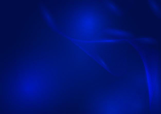 Abstrait bleu vagues de particules avec espace de copie
