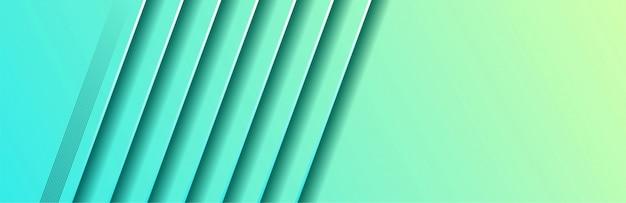 Abstrait bleu vert de style géométrique