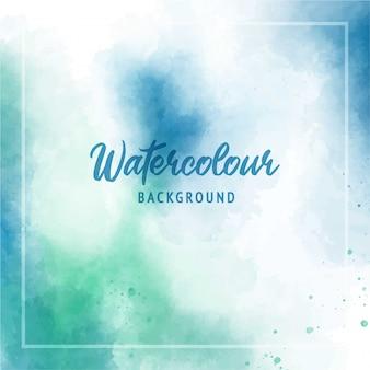 Abstrait bleu vert texture aquarelle fond