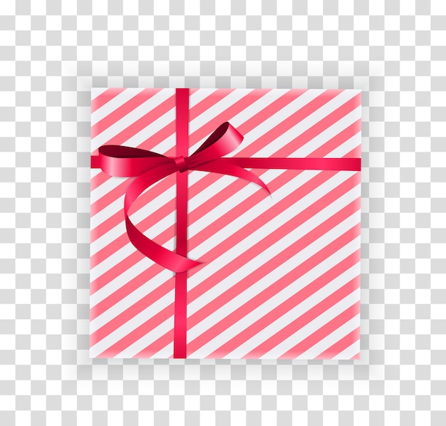 Abstrait boîte-cadeau de noël et du nouvel an sur fond transparent.