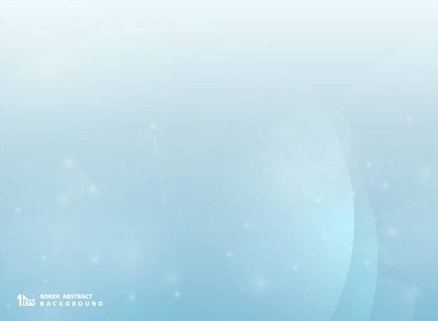 Abstrait bokeh bleu avec la ligne de technologie flou.