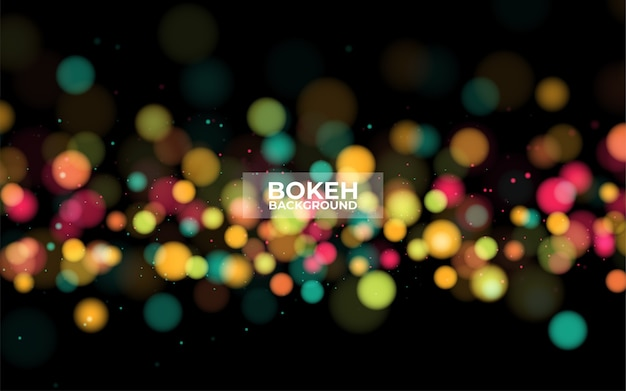 Abstrait de bokeh filtré par nuit de ville défocalisée.