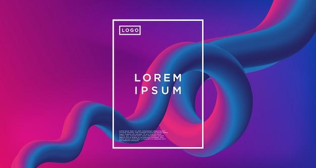 Abstrait de boucle bleu violet abstrait